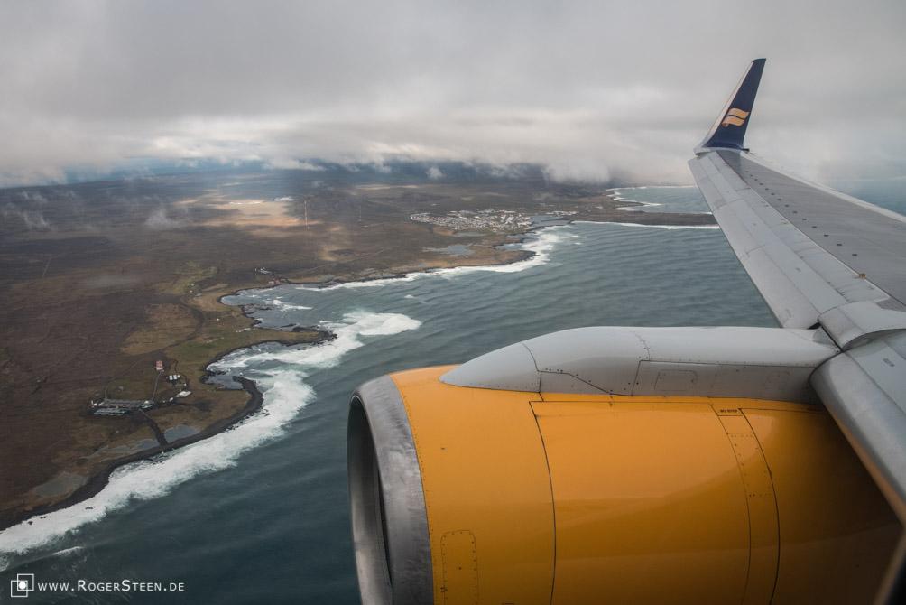 Ankunft Reykjavik